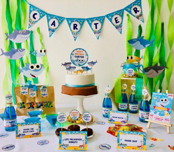 Super Simple Songs Baby Shark Editable Birthday Party Invitation
