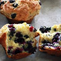 Alton Brown's Over the Top Blueberry Muffins Recipe