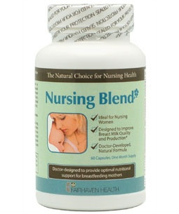 Nursing Blend - A supplement to help improve breast milk quality and production. $19.95