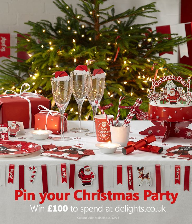 Elegant Christmas Party Themes Part - 40: Captivating Rectangle Christmas Party Table Decoration Ideas With Plain  White Fabric Tablecloth Be Equipped Three Crystal Wine Glass And Greenery  Plus White ...