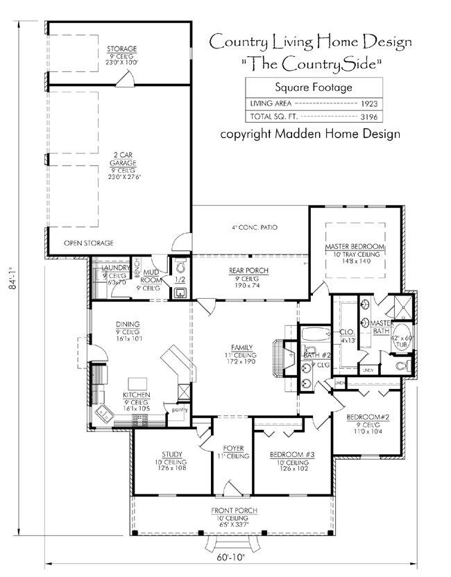 1000 ideas about acadian style homes on pinterest for Madden house plans
