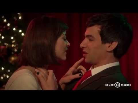 An awkward Christmas duet with Nathan Fielder and Marion Cotillard