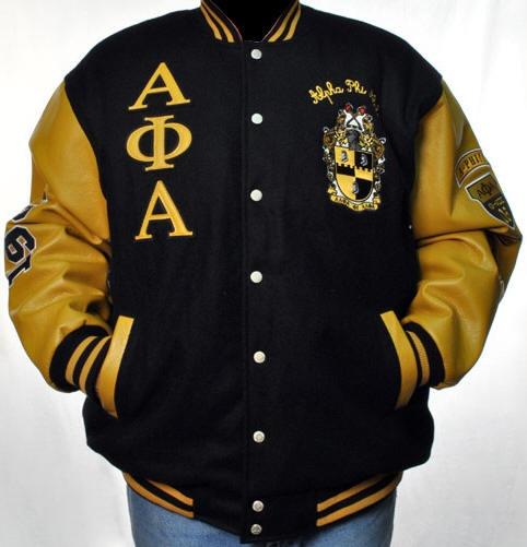 It's A Black Thang.com - Alpha Phi Alpha Fraternity Dual- color wool jacket