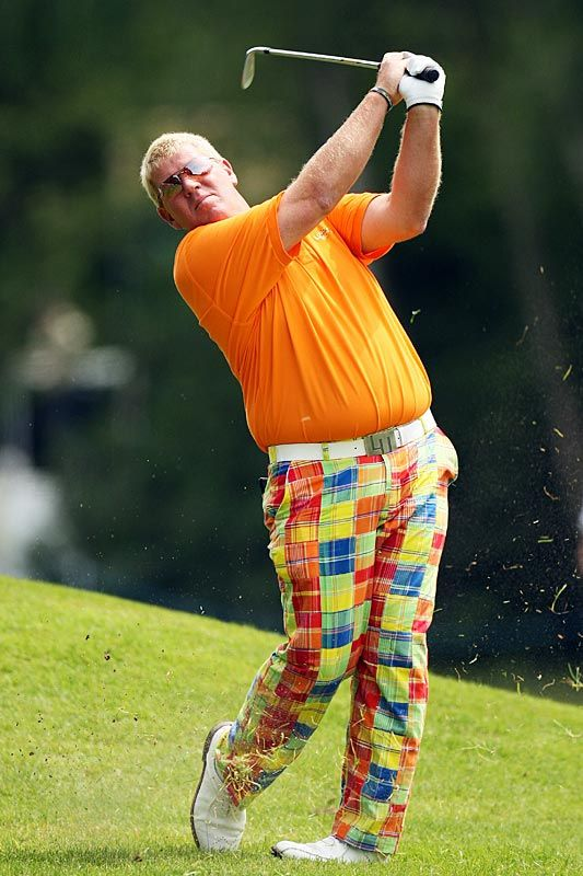 John Daly looking suave in Loudmouth. He's in the field this week at the Traveler's Championship, live from TPC River Highlands.