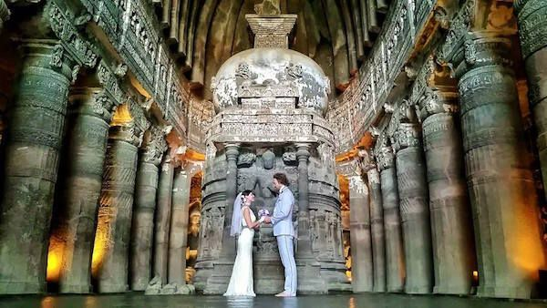 Ajanta Caves, India This Creative Couple Got Married In 38 Different Places Around The World • Page 3 of 6 • BoredBug