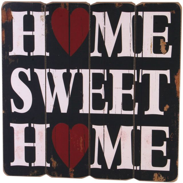 Home Sweet Home Wall Plaque £8.99