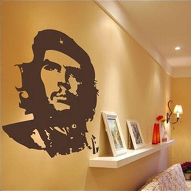 Съемный че гевара дизайн винил пропуск, Росписи декора дома, Спальня стены искусства