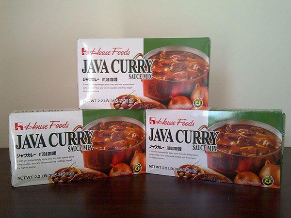 Java curry - bumbu kari jepang House Foods Java curry adalah bumbu kari Jepang yang sangat cocok untuk pembuatan nasi kare atau kuah ramen yang kental yang dapat membuat lidah mengoyang merasakannya.