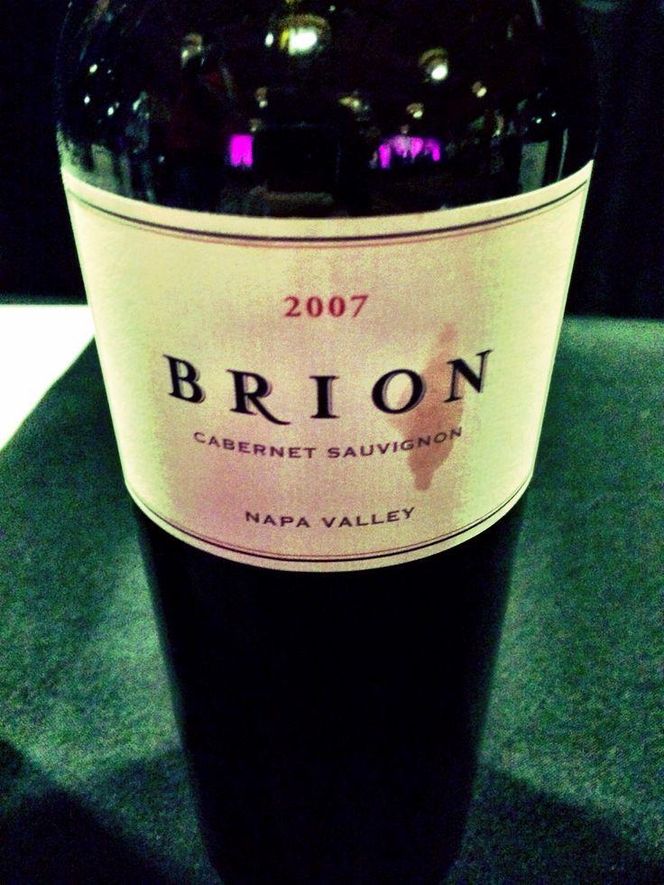 2007 Brion Cab, tasty