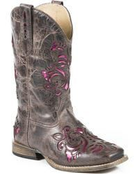 Roper Girls' Pink Belle Underlay Cowgirl Boots,