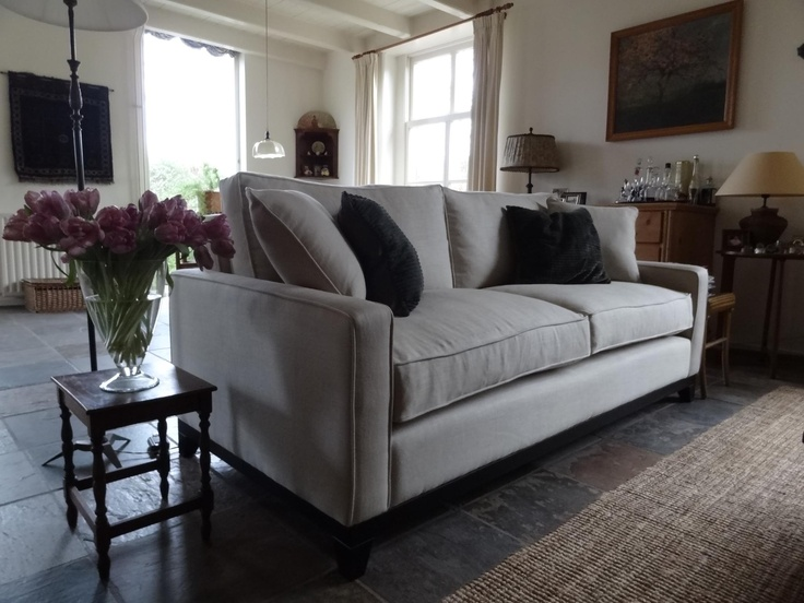 Look at the Daisy three seat sofa here in White Sand pure Belgian linen - the picture of pure elegance and sophistication, don't you think!  http://www.sofa.com/shop/sofas/daisy/#130-LINWHI-0-0