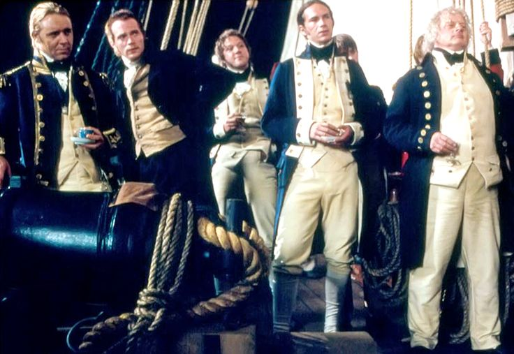 Aubrey, Maturin, Mowett, Pullings and Allen of HMS Surprise