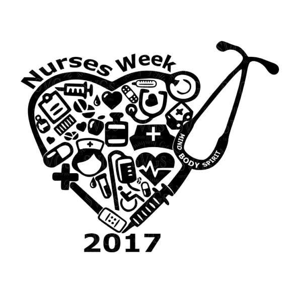 SVG - Nurses Week 2017 - Digital Download Nurses Week 2017 is a special week for those of us in the Medical Profession. Express your gratitude by creating a Gift, a Card, a Tshirt, a Memento to recognize your Caregiver, Staff, or Loved one who gives themselves selflessly to their profession.  More Nurse Designs: http://etsy.me/2oTP0Zs  This Design does not contain editable Text. All text sections are unioned as one piece for compatibility across software platforms.  This Listin...