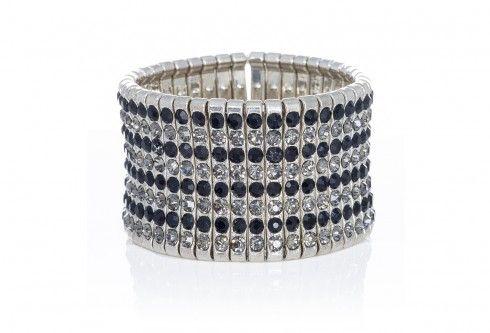 Ingenious silver stretch cuff bracelet