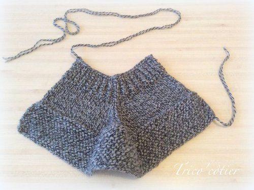 Chaussons au tricot (tuto inside)