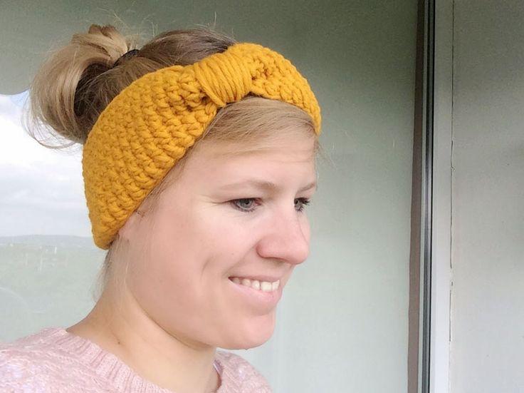 einfaches Stirnband häkeln mit Anleitung