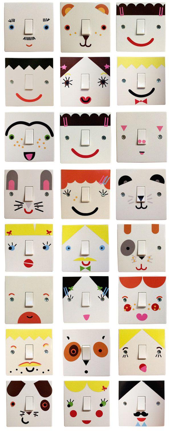 Habitaciones infantiles, ¡interruptores decorados! Cómo renovar la habitación infantil: interruptores decorados. Ideas de decoración infantil para hacer interruptores personalizados.
