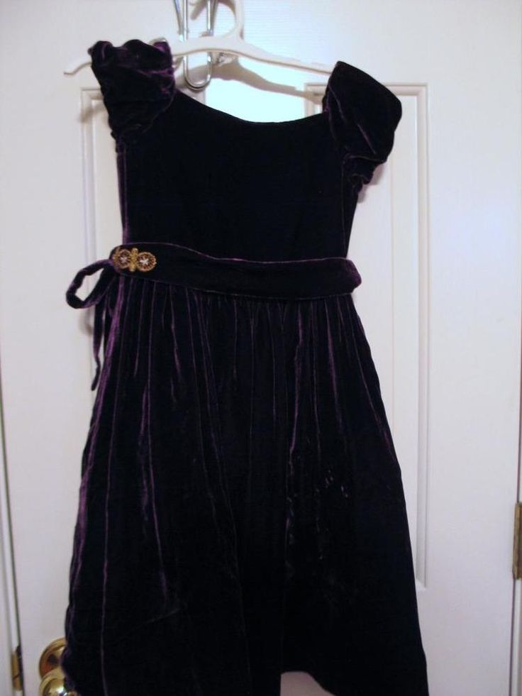 Ralph Lauren Europe Purple Dress Wedding Dressy Boutique Size 4T Embellish Belt #RalphLaurenEurope #DressyWedding