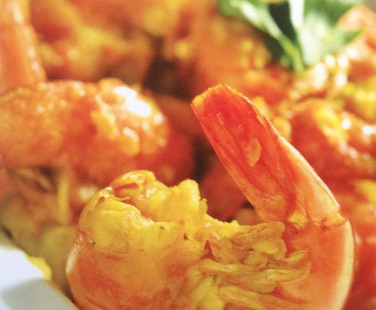Garnelen Cari / Cari Camarons (Kreolische Küche)