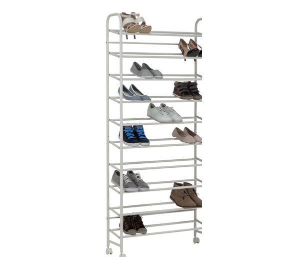 Buy HOME 10 Shelf Rolling Shoe Stoage Rack - White at Argos.co.uk - Your Online Shop for Shoe storage, Storage, Home and garden.