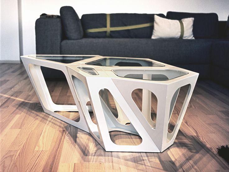 Simplexio Primo - coffee table 4 cells white