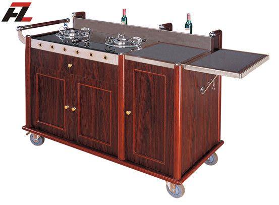 Hotel Kitchen Cart with Backsplash -Kitchen Cart Island