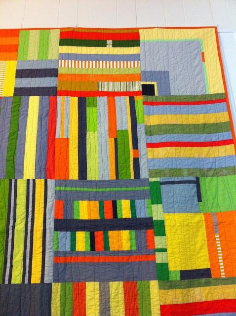 A little gray: Do Good Stitches Stripes Quilt