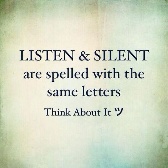 #Listen#and#Silent have the same letters:)