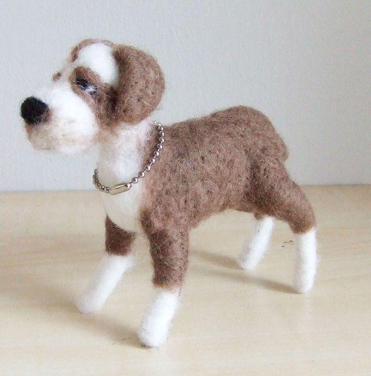 sweet DOG needle felted miniature ANIMAL toys  handmade #9 #nutka_art #AllOccasion