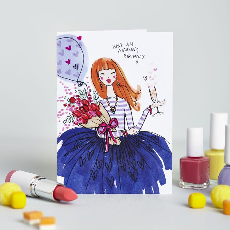 Mrs Magpie Fashion Spy birthday card