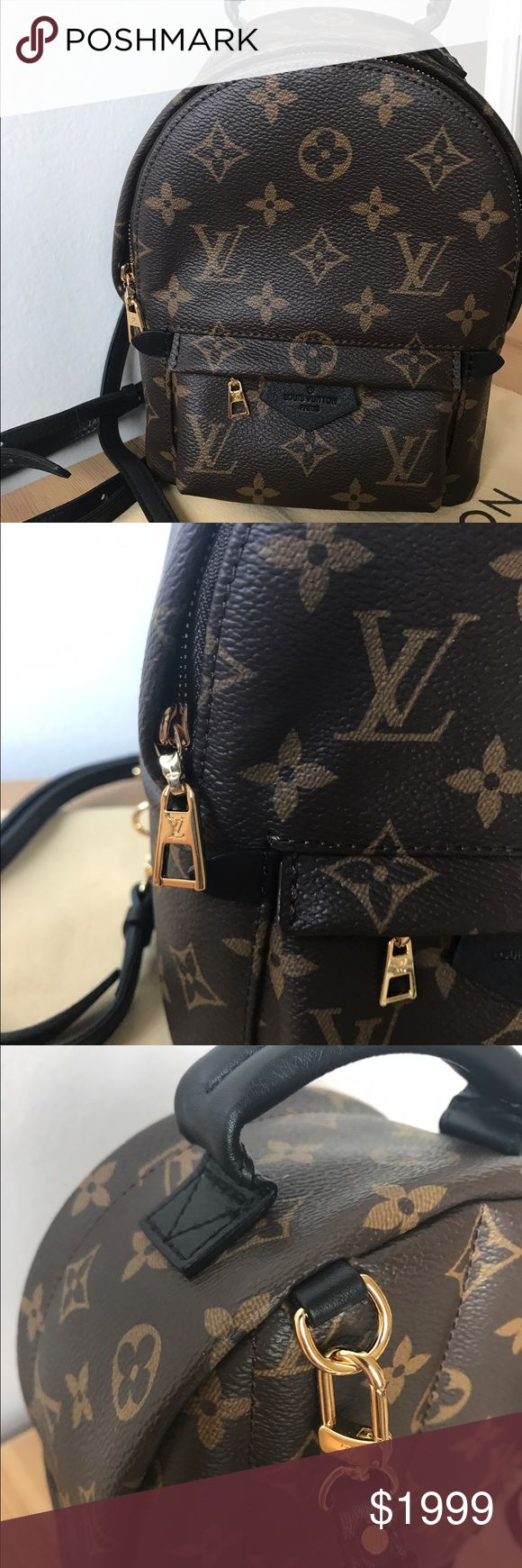 Like new LV Palm Springs Mini Backpack ❤️Authentic ❤️Only used once. Looks brand new. NO signs of wear. Perfect condition. Comes with dust bag only. Might find the box later.  🌶No offers🌶please don't ask me for authenticity card. If you ever owned one, you would know LV bags Don't come with any authenticity card. Date code tag  attached inside. Date code FL4125. Serious buyers only! Lower on Ⓜ️ Will list for a serious buyer. Louis Vuitton Bags Backpacks