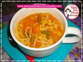Sopa de frango com legumes e macarrão, receita de panela de pressão