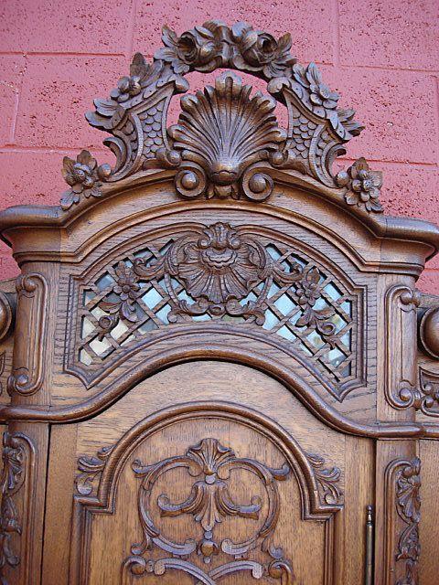 Античный Людовик XV Льеж стол Античная Жертвенника Кабинет Тумба из mrbeasleys на Руби Лейн