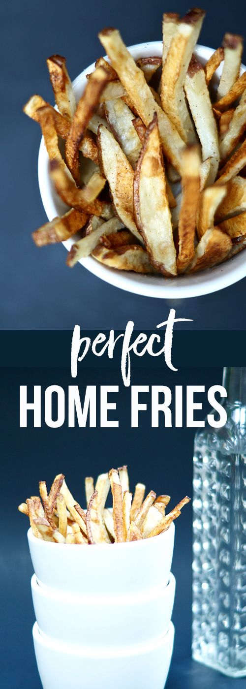 Perfect Home Fries. Baked, not fried, this recipe turns out CRISPY fries every time! Best of all? It's so easy to DIY!