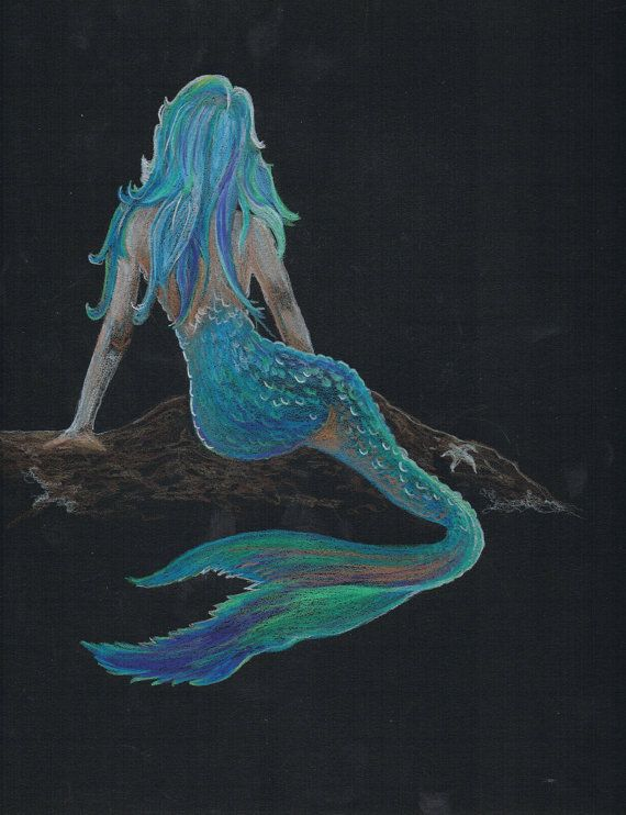 Colored Pencil Mermaid Picture by wOzOnArt on Etsy, $60.00 ...