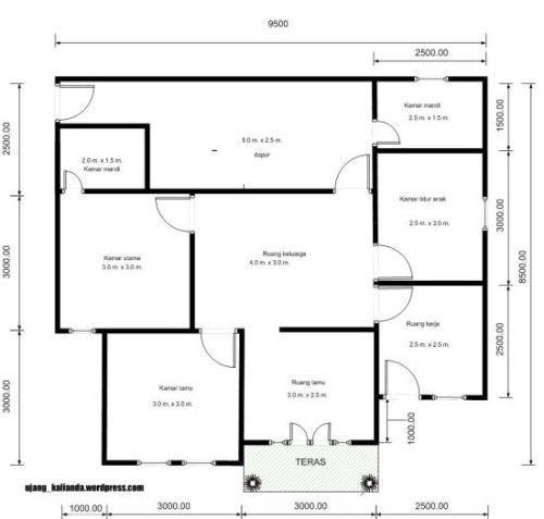 denah rumah dengan ruang praktek bidan - Penelusuran Google