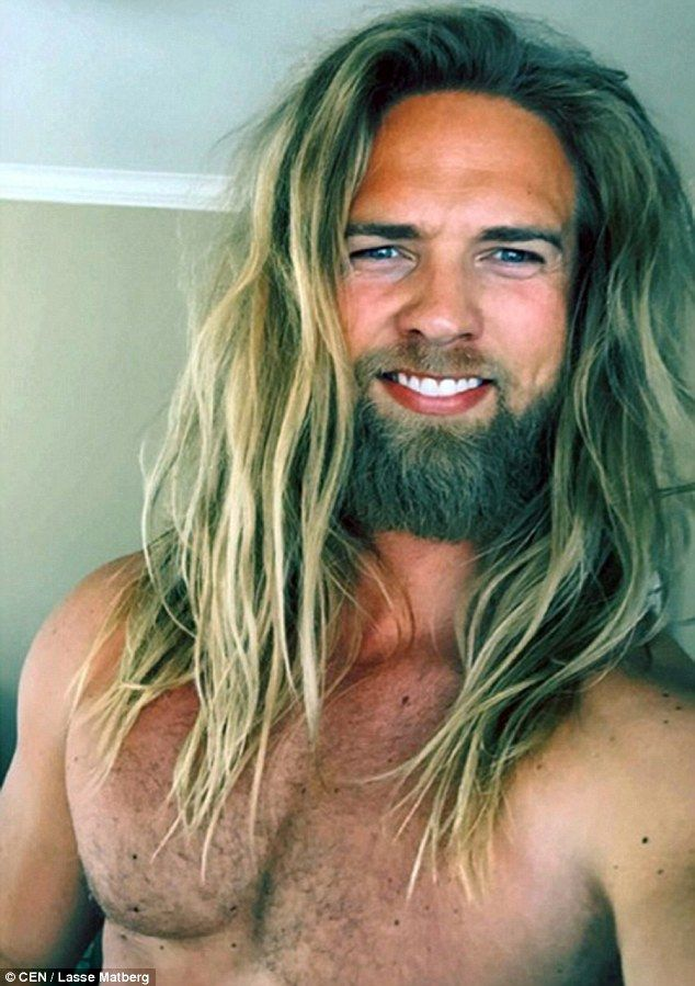 Lasse Matberg has become an Instagram heartthrob thanks to his beefy build and long blond hair