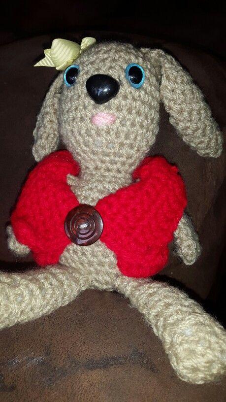 Crochet dog in arugurumi