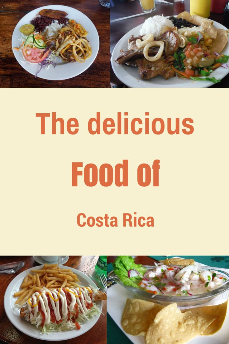 Learn all about the food of Costa Rica and what you will most likely eat in the country: http://mytanfeet.com/about-cr/costa-rican-food/