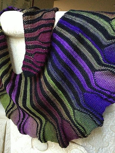 Free Knitting Pattern For Short Row Scarf : 1382 best images about Knit Crochet Patterns Shawls Scarves Cowls on Pinteres...