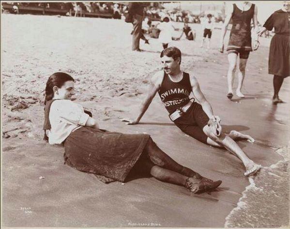 Nikola Tesla 1900 swim instructor