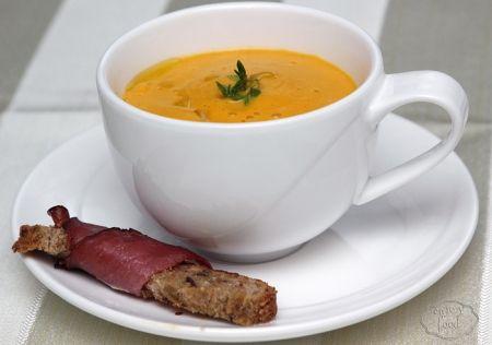 Baked carrots cream soup - Supa crema de morcovi copti