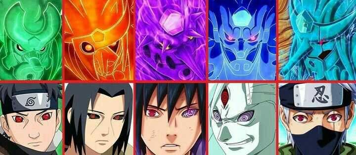 Susanoo, Shisui, Itachi, Sasuke, Rikudou Sennin, Kakashi, Sharingan; Naruto