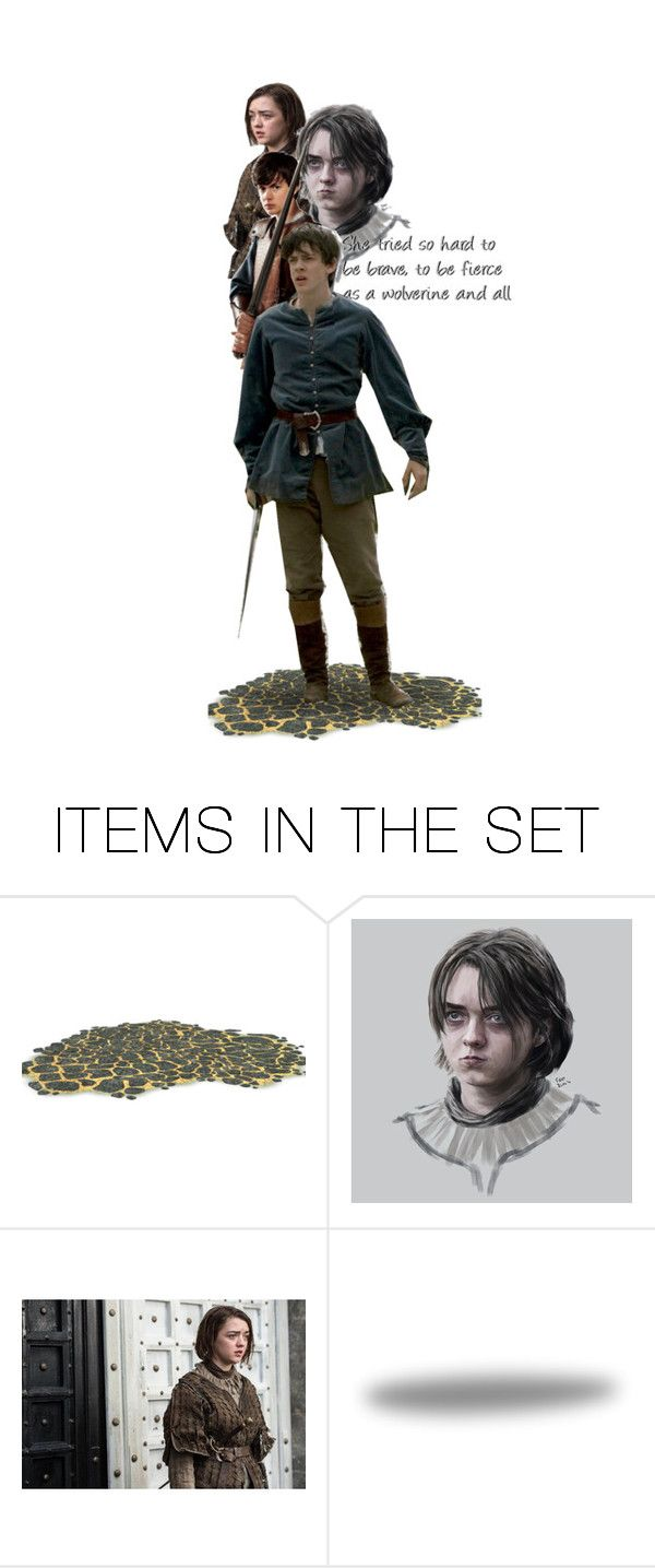 """""""Needle was Robb and Bran and Rickon, her mother and her father, even Sansa..."""" by buffykdh ❤ liked on Polyvore featuring art"""