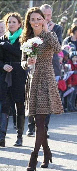 Kate wearing the Orla Kiely coat in February 2012