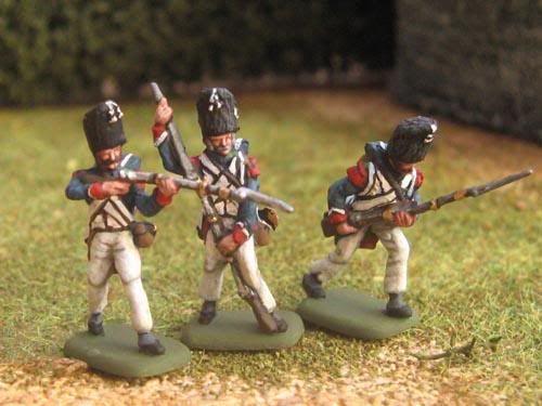 Chasseurs à pied de la garde impériale, 1/72 figures by Hãt - mini minis figurines figures figure 20mm 1/72 napoleonics painting plastic toy soldier miniatures Philotep