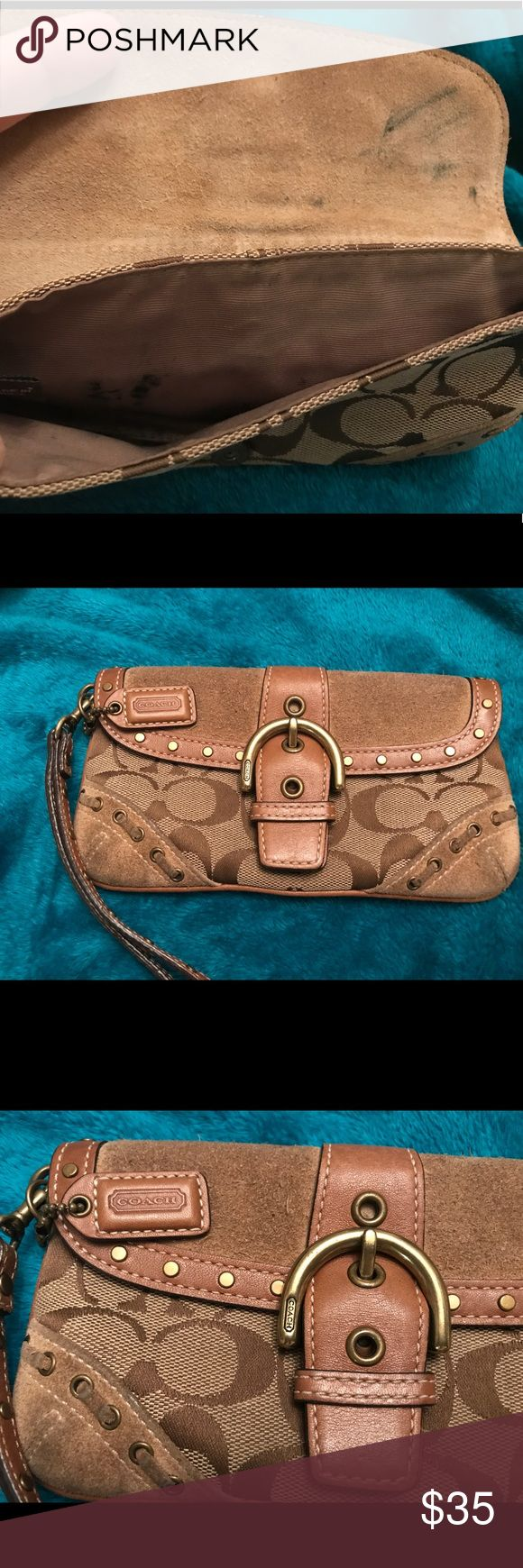 Coach clutch bag Good used condition. Small ink stain on inside. Coach Bags Clutches & Wristlets