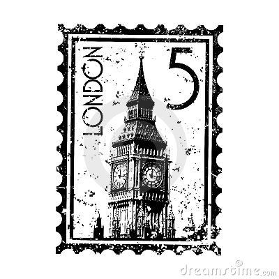 London Stamp Or Postmark Style Grunge