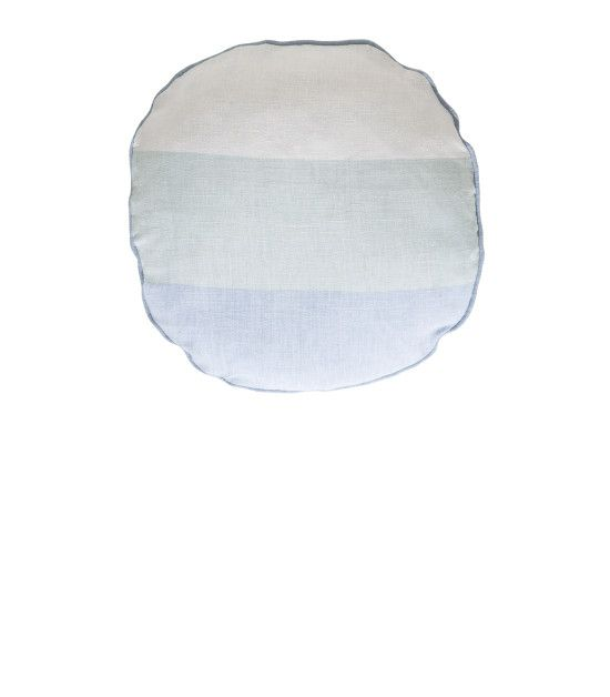 The Echo Circle Linen Cushion Find it here: http://kateandkate.com.au/shop/christmas-gifts/echo-circle-linen-cushion-celestial-blue-morning-mist-snow-white/
