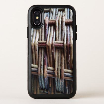 Rustic Basket Print OtterBox Symmetry iPhone X Case - rustic gifts ideas customize personalize